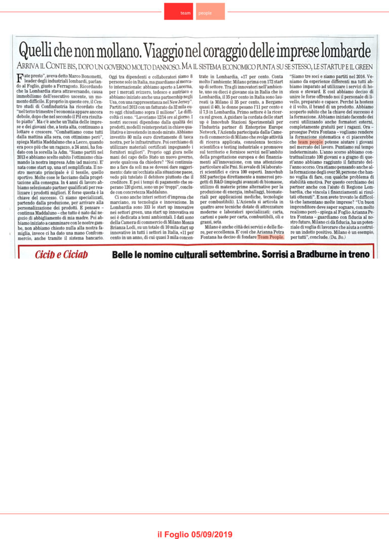 Team People - rassegna stampa